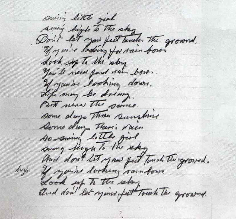 Charlie Chaplin handwriting