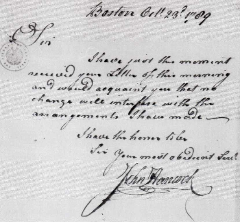 John Hancock's Handwriting
