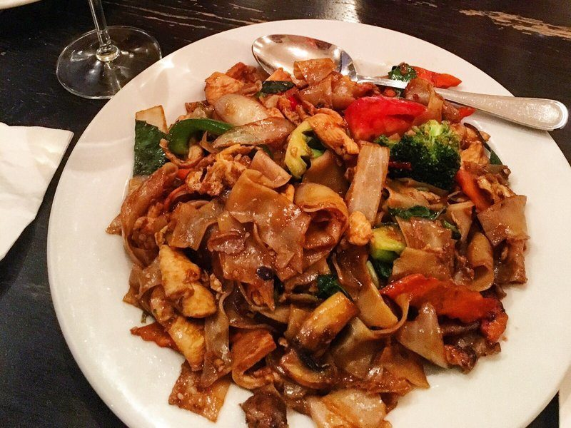 Drunken noodles from Skewered Thai in Salt Lake City, UT
