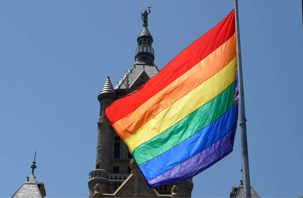 Pride flag slc