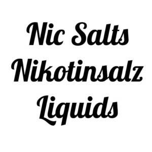 Nic Salts / Nikotinsalz Liquids