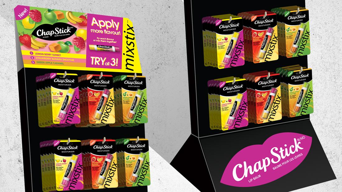 Chapstick Mixstix Display