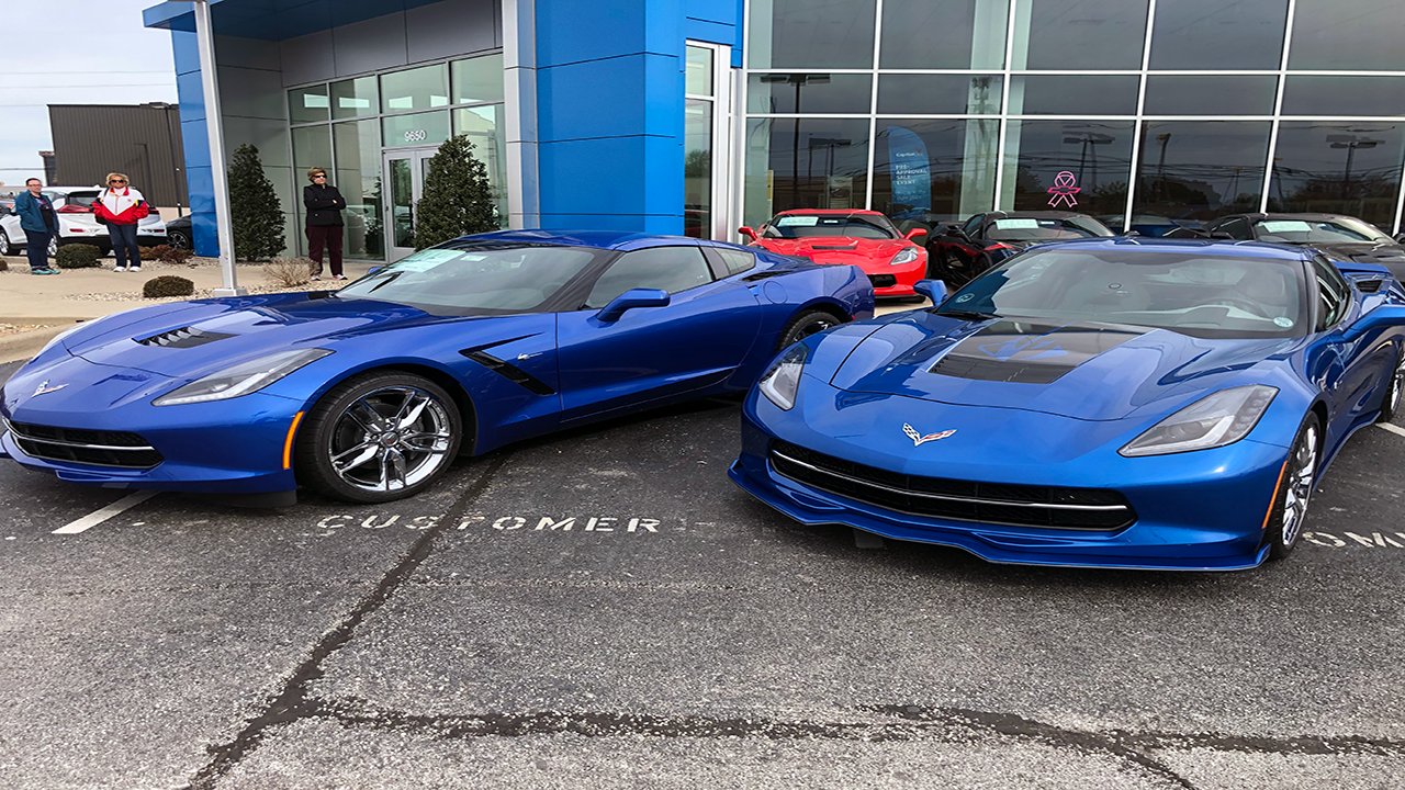 2019 Corvette Elkhart Lake Blue Up Close And Side By Side