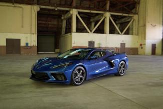 blue 2020 corvette mid engine