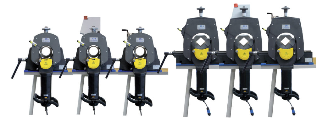 Picture of various Orbitalum GF4 cutoff saws