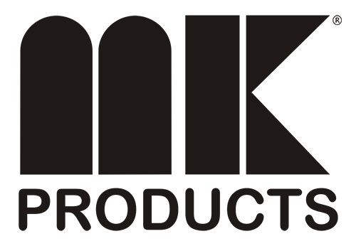 Image of the MK Products logo in black