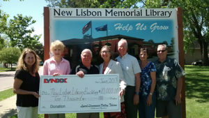 Lynxx Donation to New Lisbon Library