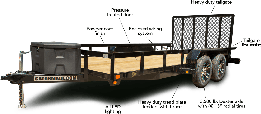 Gatermade tandem axle trailer