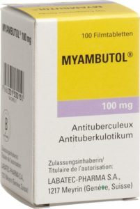 myambutol, a drug used to treat TB