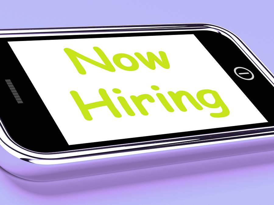 Now Hiring On Phone Shows Recruitment Online Hire Jobs