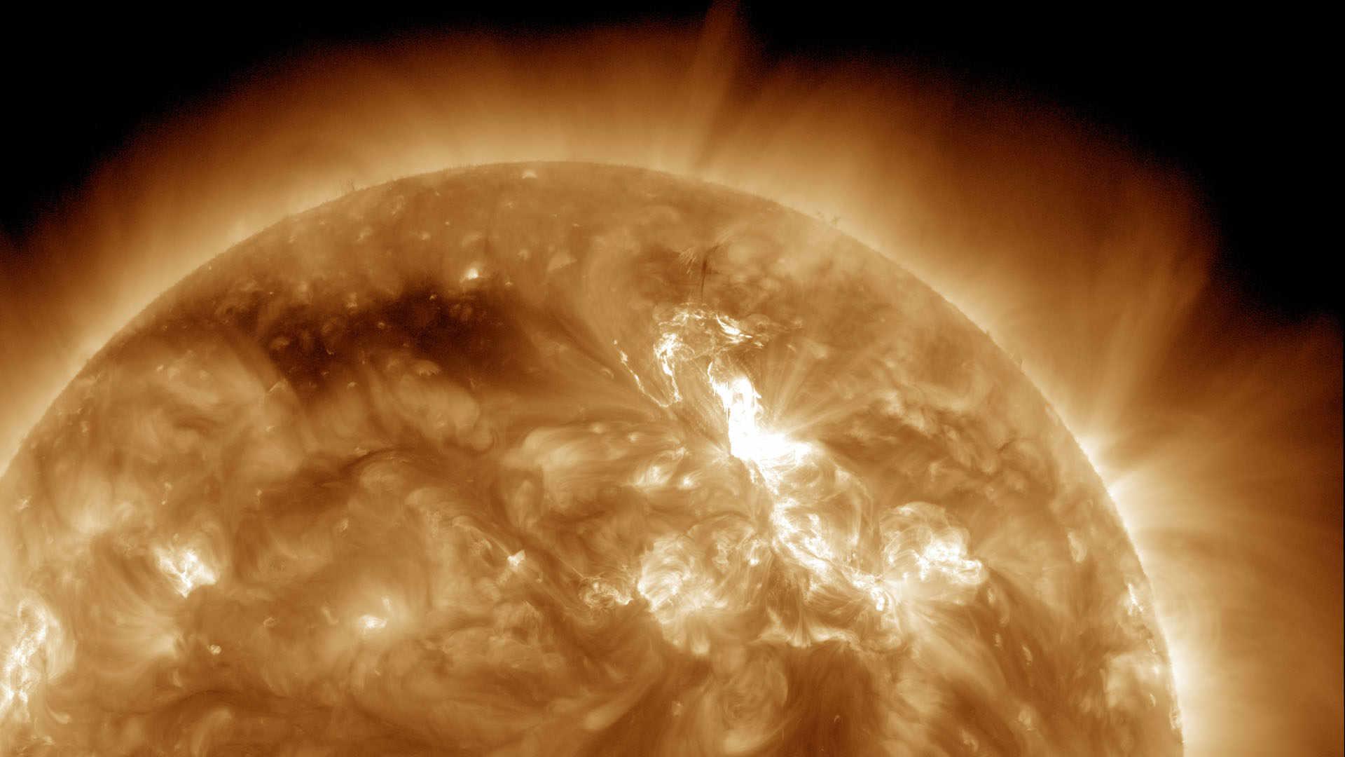 NASA photo of solar flare