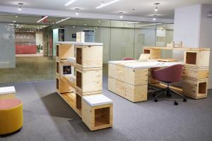 Teknion's Bene Box modular office components.