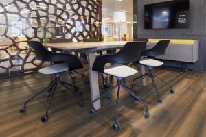 Teknion's Wilkhahn Occo chairs.