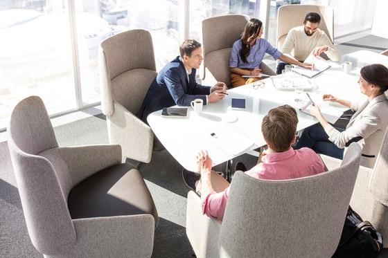 open office floor plan - provide meeting areas