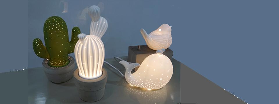 Porcelain Animal LED Light