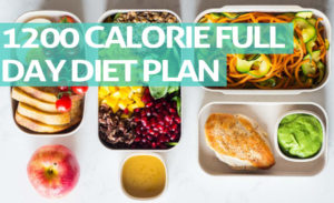 1200 Calorie Full Day Diet Plan For Fast Weight Loss