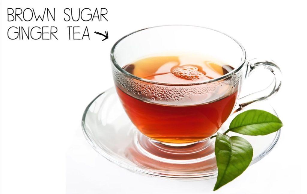Brown sugar ginger tea