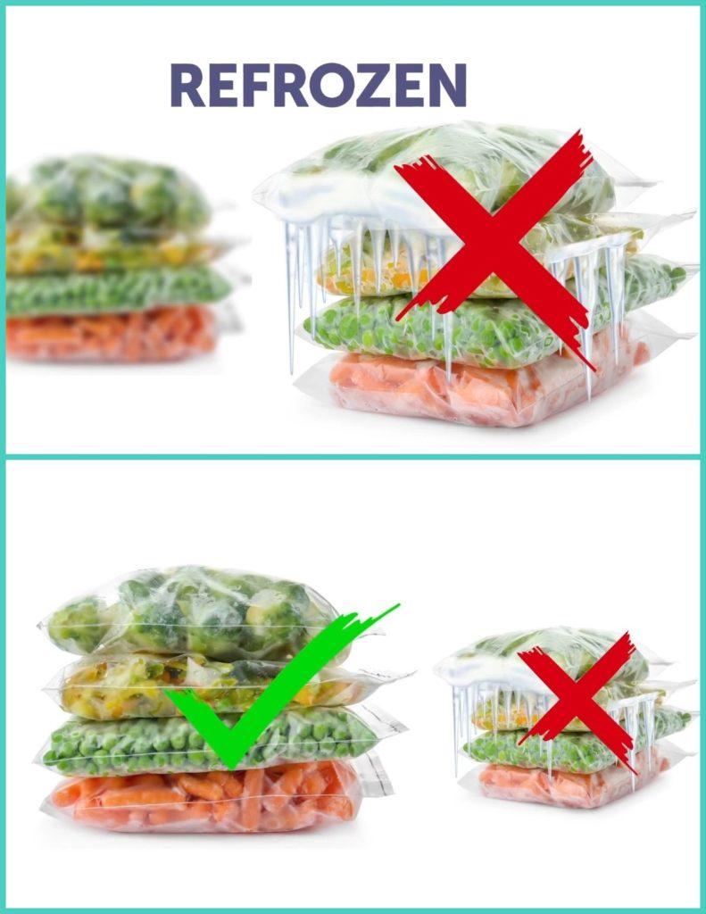 Frozen veggies, berries,and fruits