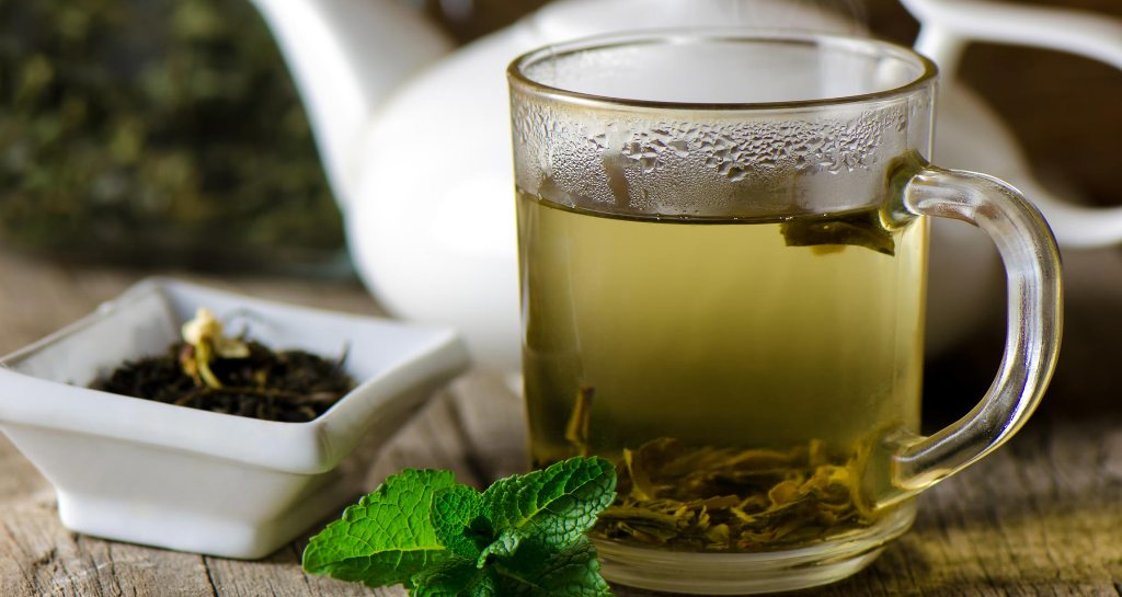 Drink herbal tea to reduce fever