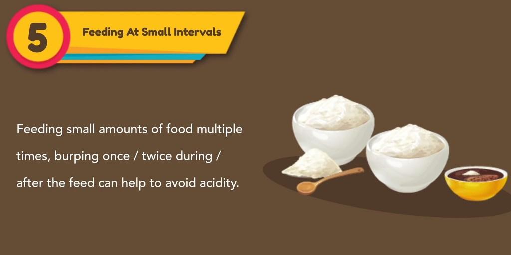 Feeding at small intervals