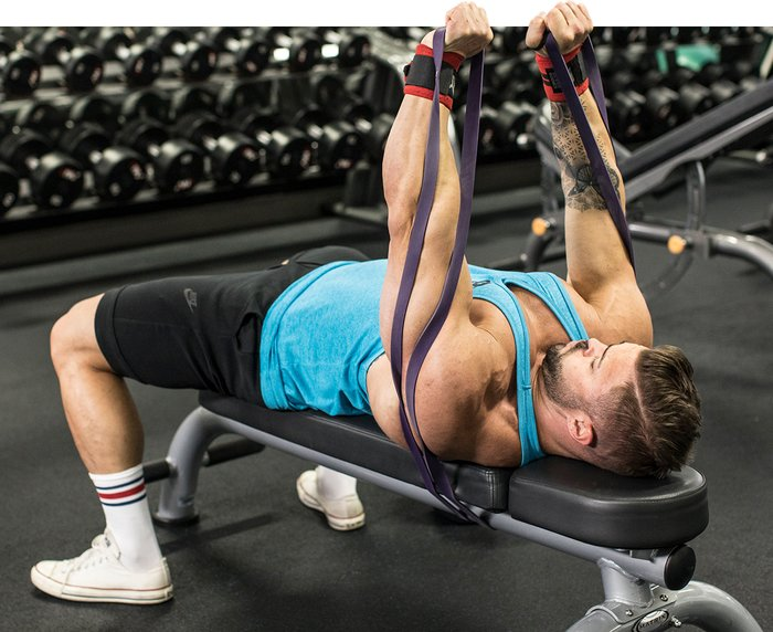 Banded Dumbbell Chest Press