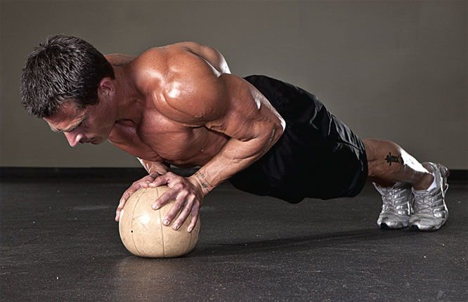 Dumbell Chest Squeeze