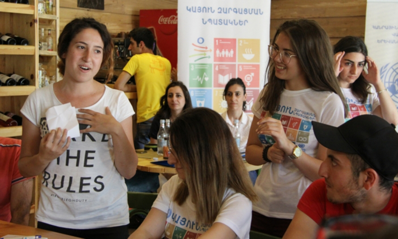 Young people in Armenia learn about SDGs from peers