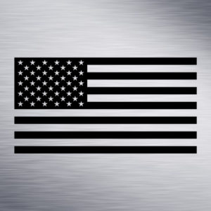 US Flag Engraving Design