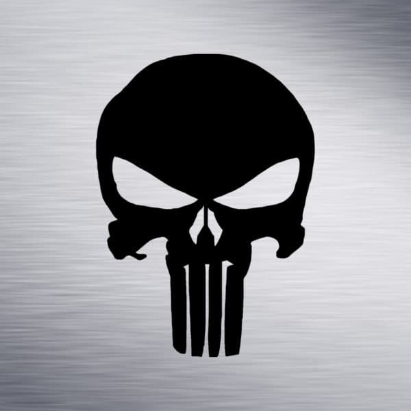 Punisher Skull Engraving Design