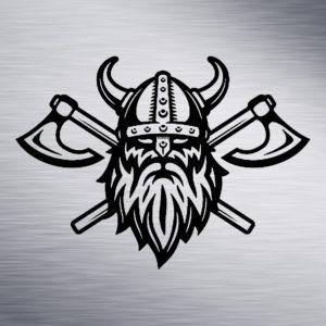 Viking with Axe Engraving Design