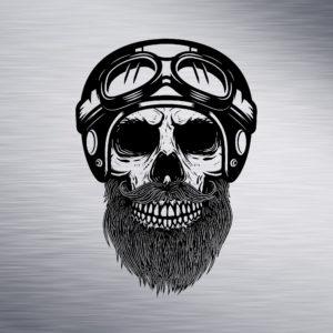 Skull with Helmet Engraving Design