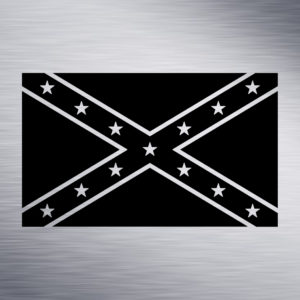 Confederate Flag Engraving Design