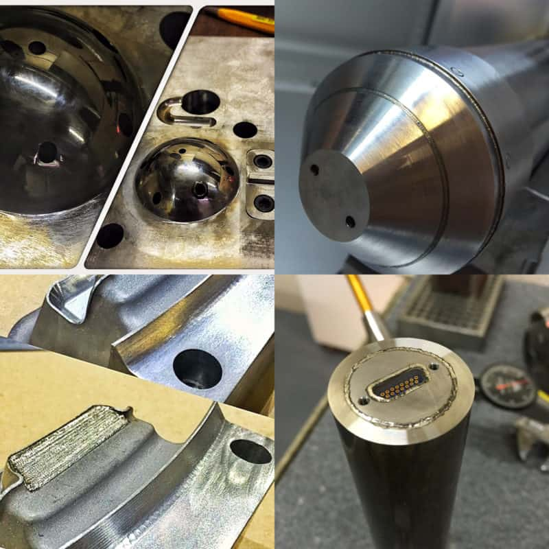 Images of laser welding examples