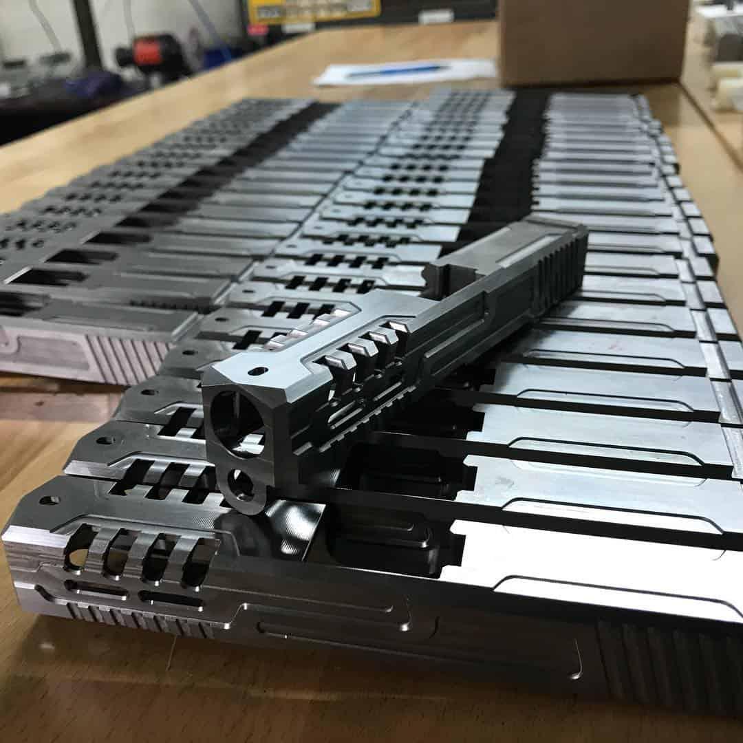 Glock slides with custom cuts and serrations