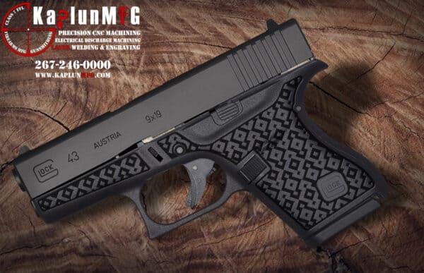 Glock 43 Laser Stippling Pattern T14