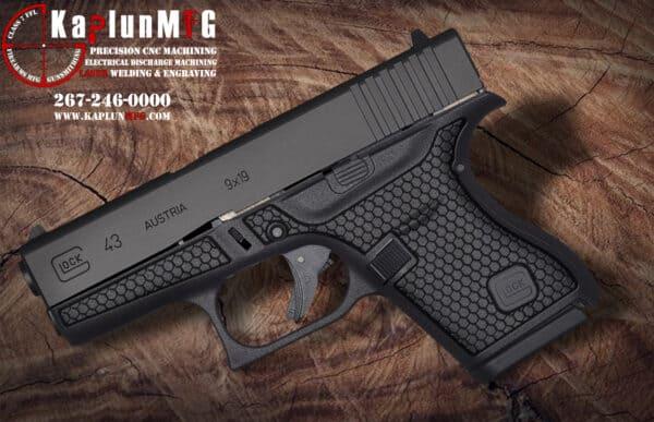 Glock 43 Laser Stippling Pattern T2