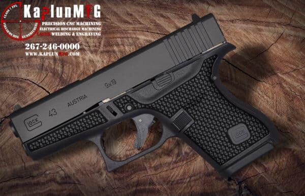Glock 43 Laser Stippling Pattern T6