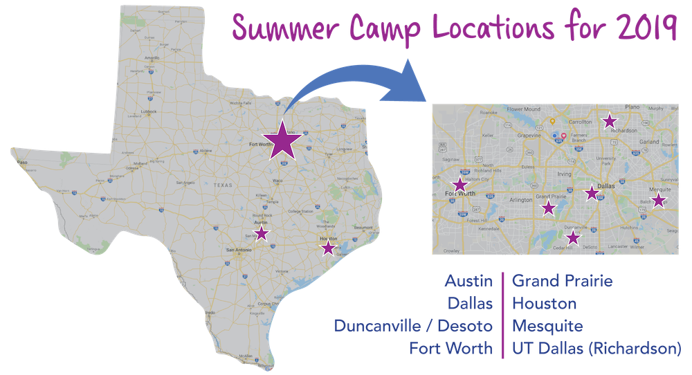 design connect create 2019 summer camp locations