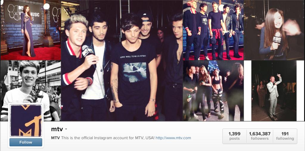 mtv millennial content instagram