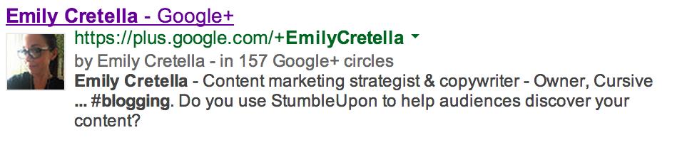 emily cretella google authorship