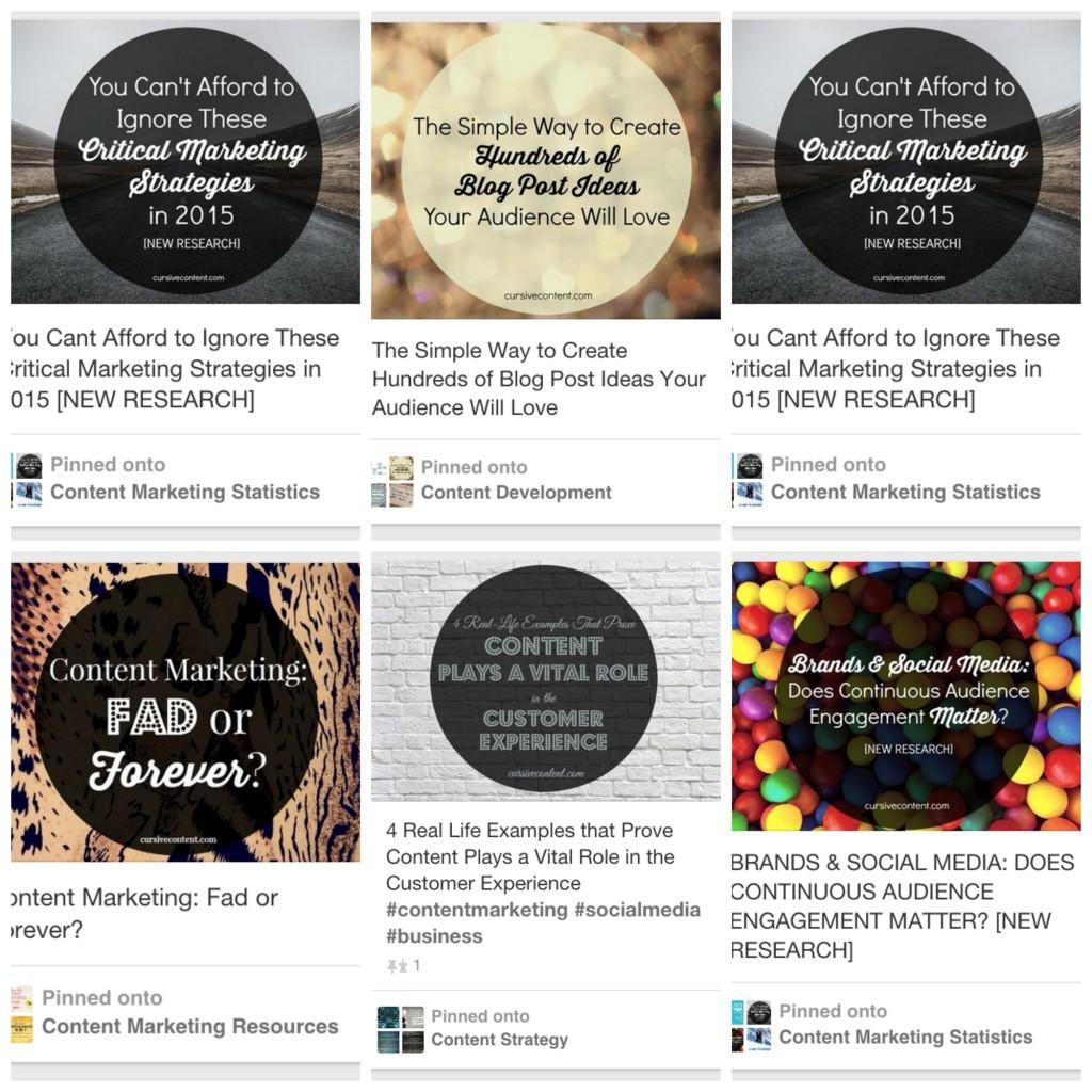 cursive content marketing pinterest