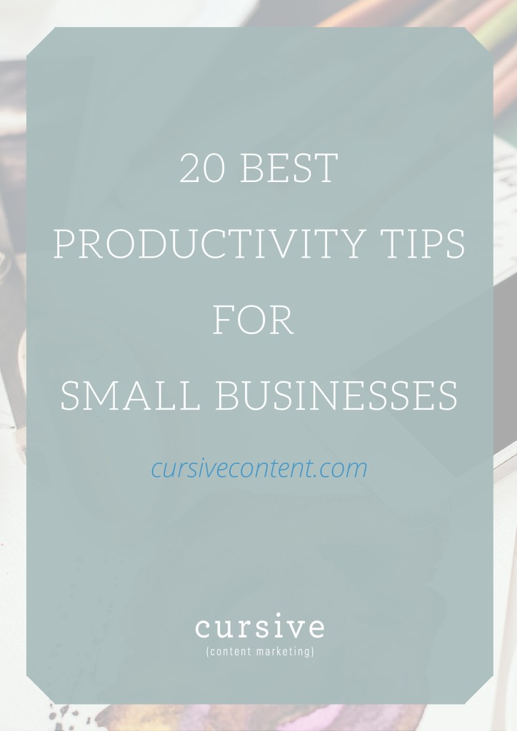 If you're struggling with time management, an overwhelming to-do list or just the overwhelm of the daily grind, these 20 productivity tips are for you.