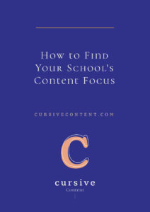 How to Find Your School's Content Focus