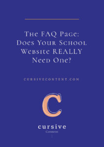 The FAQ Page: Does Your School Website REALLY Need One?