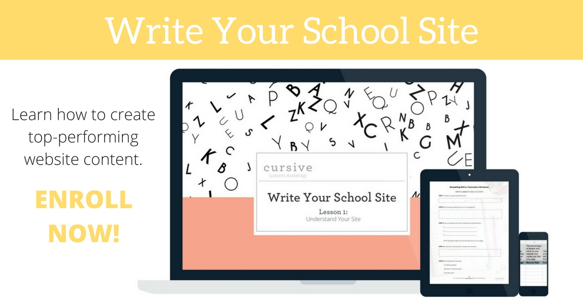 Write Your School Site - course for school marketers