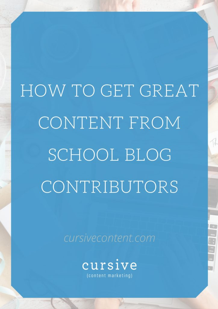 Being intentional and strategic with your content requests will keep contributors interested and engaged -- resulting in stronger stories for your school blog.