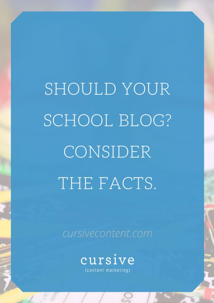 Should Your School Blog? Consider The Facts.