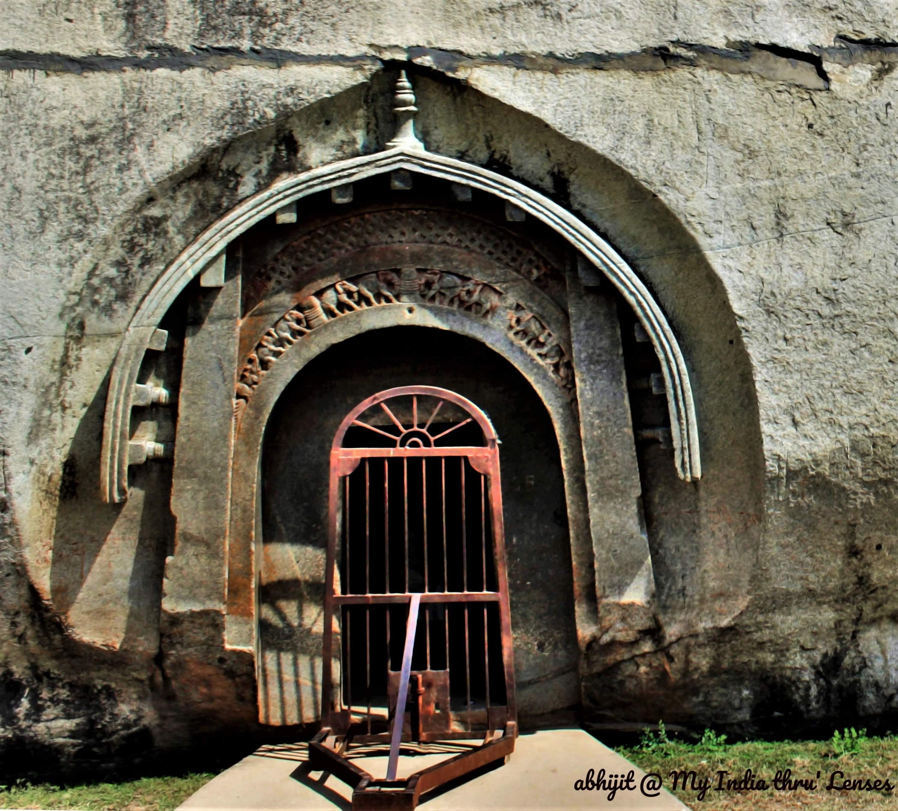 The Ornate Entrance of Lomas Rishi Cave