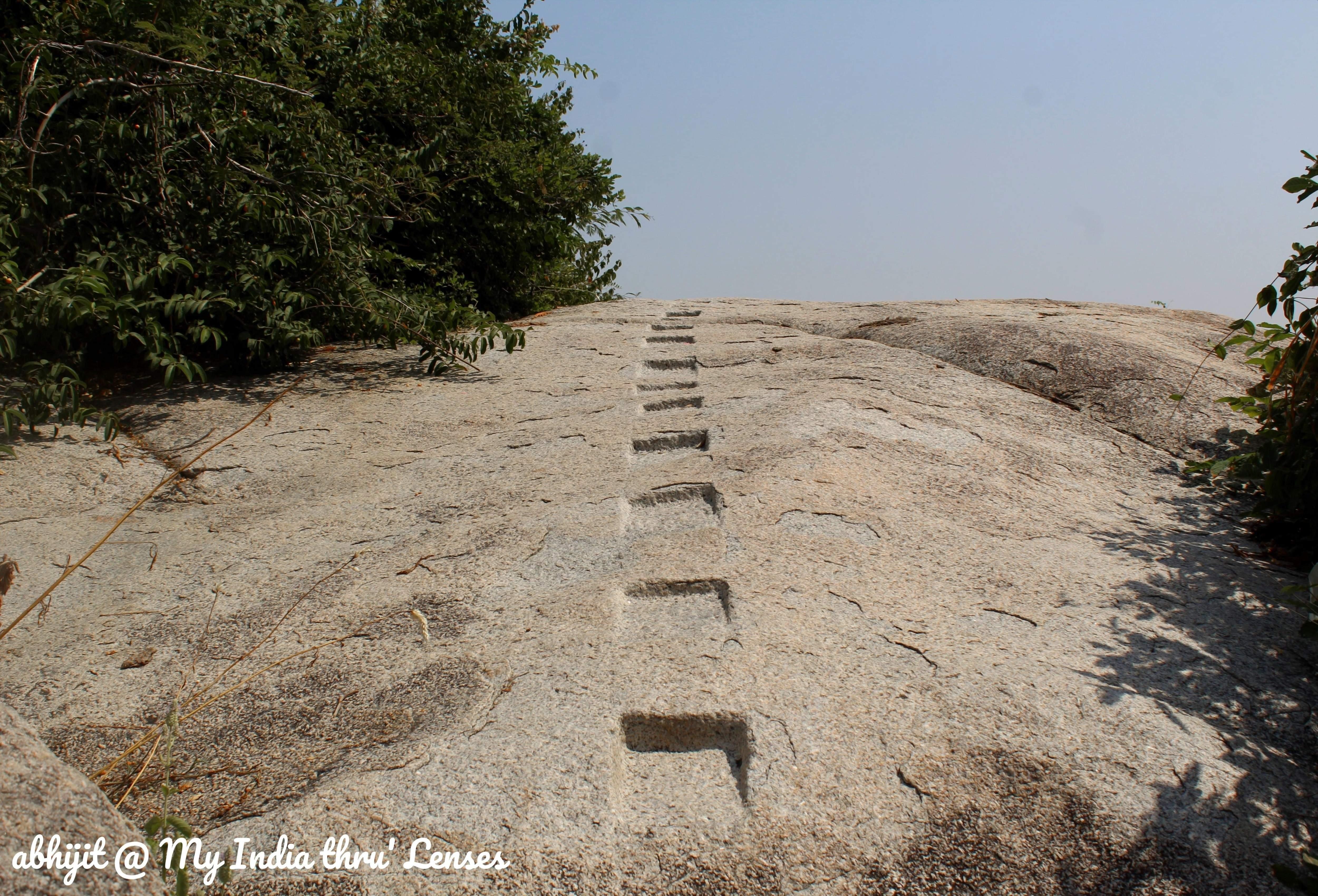 Ashokan Steps to guide you to Vishwakarma Cave