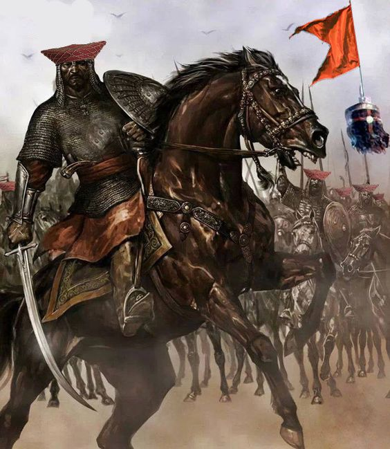 Maratha Light Cavalry in Battlefield (Pinterest)